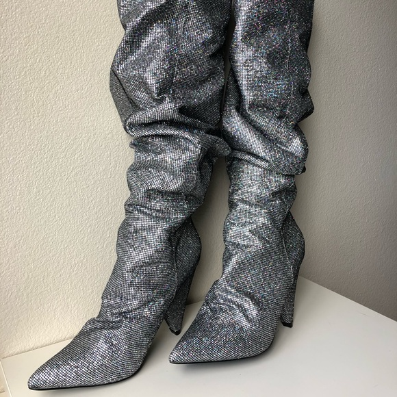 fashion nova glitter boots